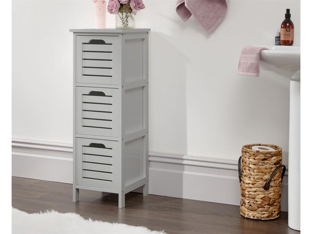 Grey Bergen Scandinavian 3 Drawer Slim Occasional Storage Unit with regard to dimensions 1024 X 768