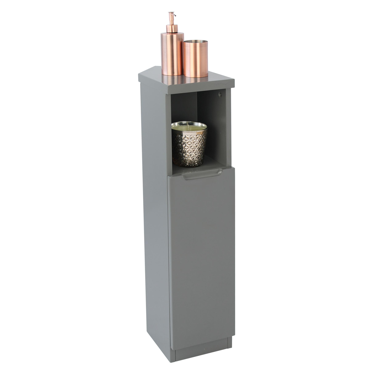 Grey Gloss Bathroom Corner Storage Cabinet throughout sizing 2480 X 2480