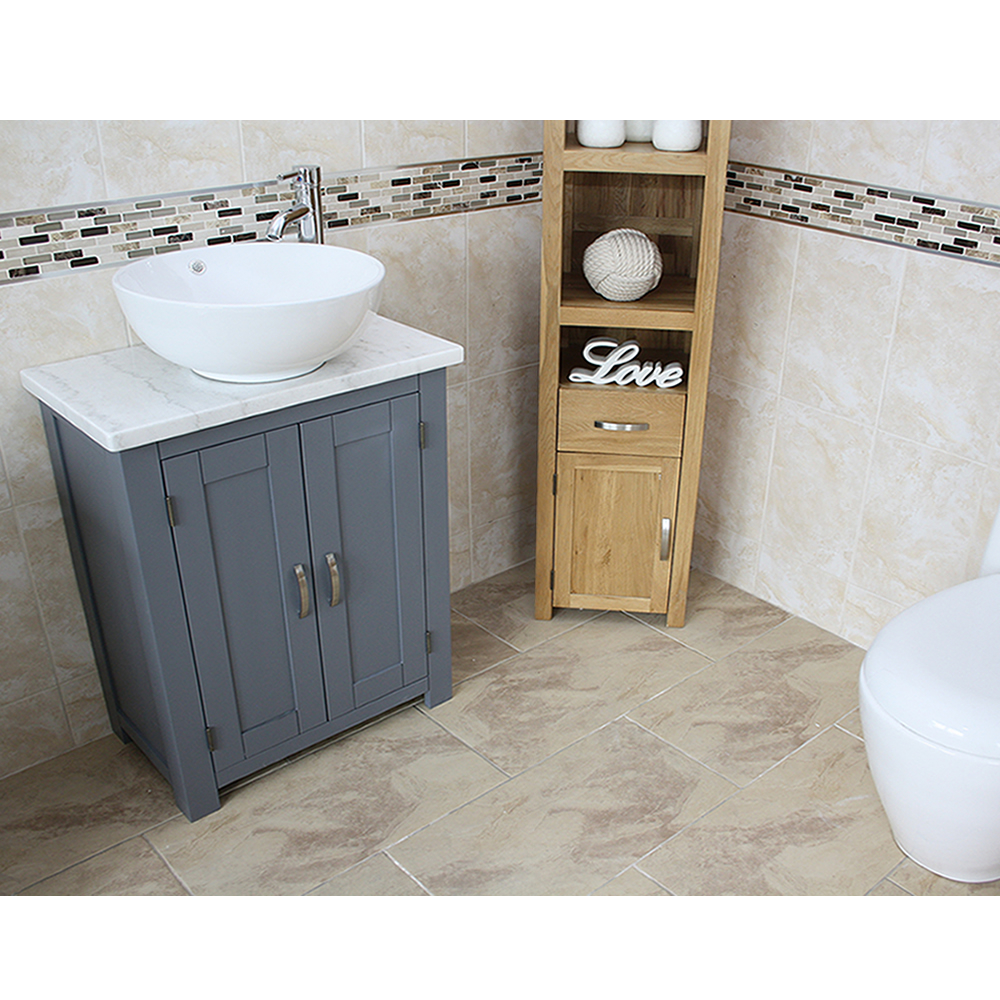 Grey Painted Unit White Marble Top Ceramic Basin Choice 310gwmcbc within size 1000 X 1000