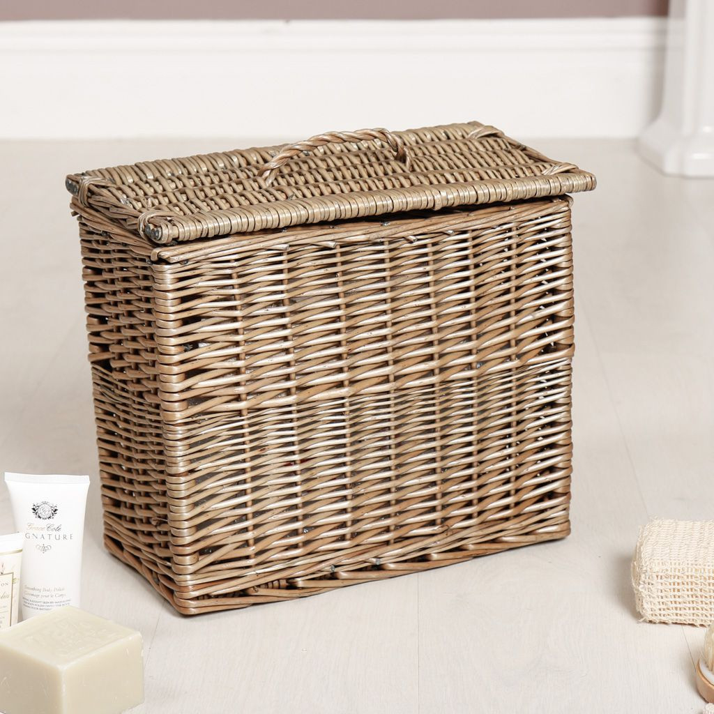 Grey Washed Willow Storage Basket throughout sizing 1024 X 1024