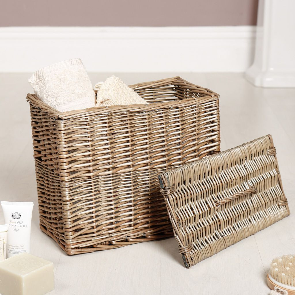 Grey Washed Willow Storage Basket with regard to proportions 1024 X 1024
