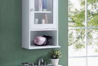 Gymax Wall Mounted Bathroom Cabinet Storage Organize Hanging Medicine Adjustable Shelf throughout measurements 1200 X 1200