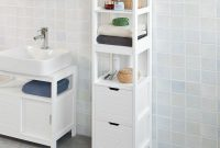Haotian Frg126 W White Floor Standing Tall Bathroom Storage within proportions 1600 X 1600