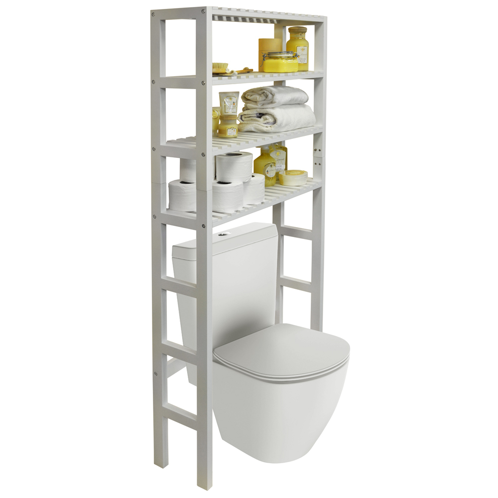 Hartland Over Toilet Bathroom Storage Unit With 4 Shelves in dimensions 1000 X 1000