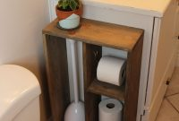 Hide Unsightly Toilet Items With This Diy Side Vanity in sizing 1000 X 1500