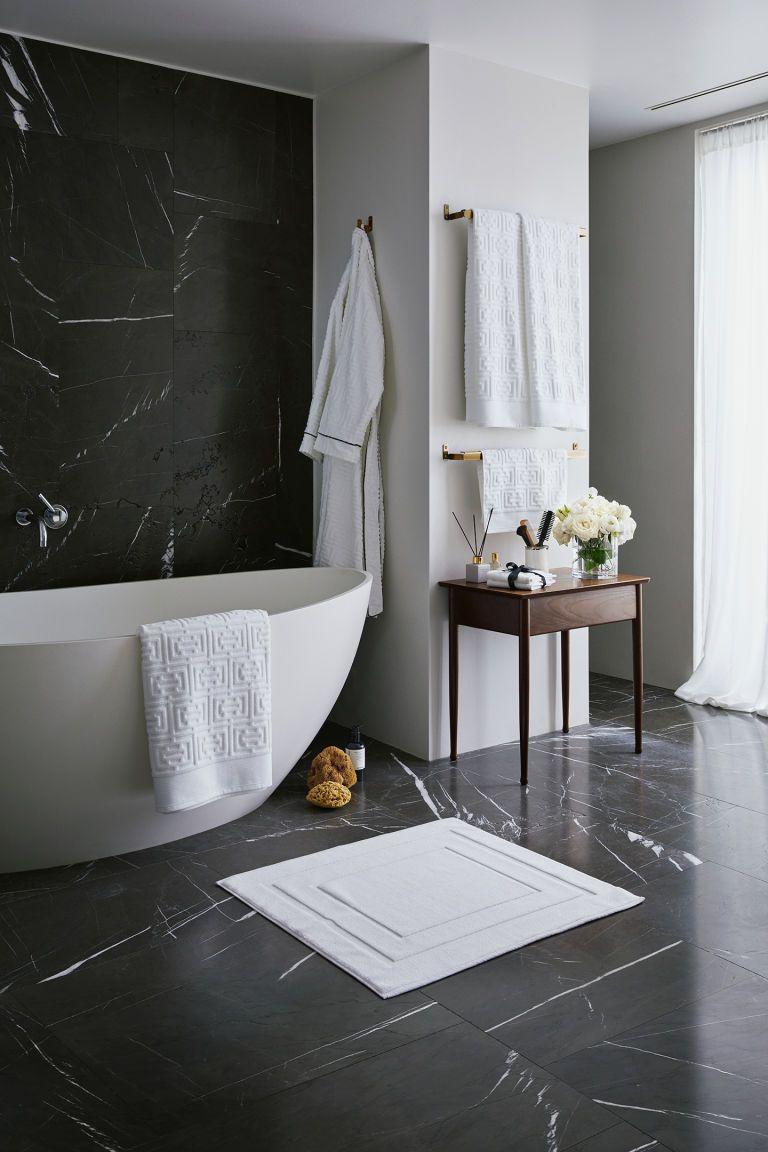 Hm Jacquard Weave Bath Sheet White Modern Bathroom with dimensions 768 X 1152