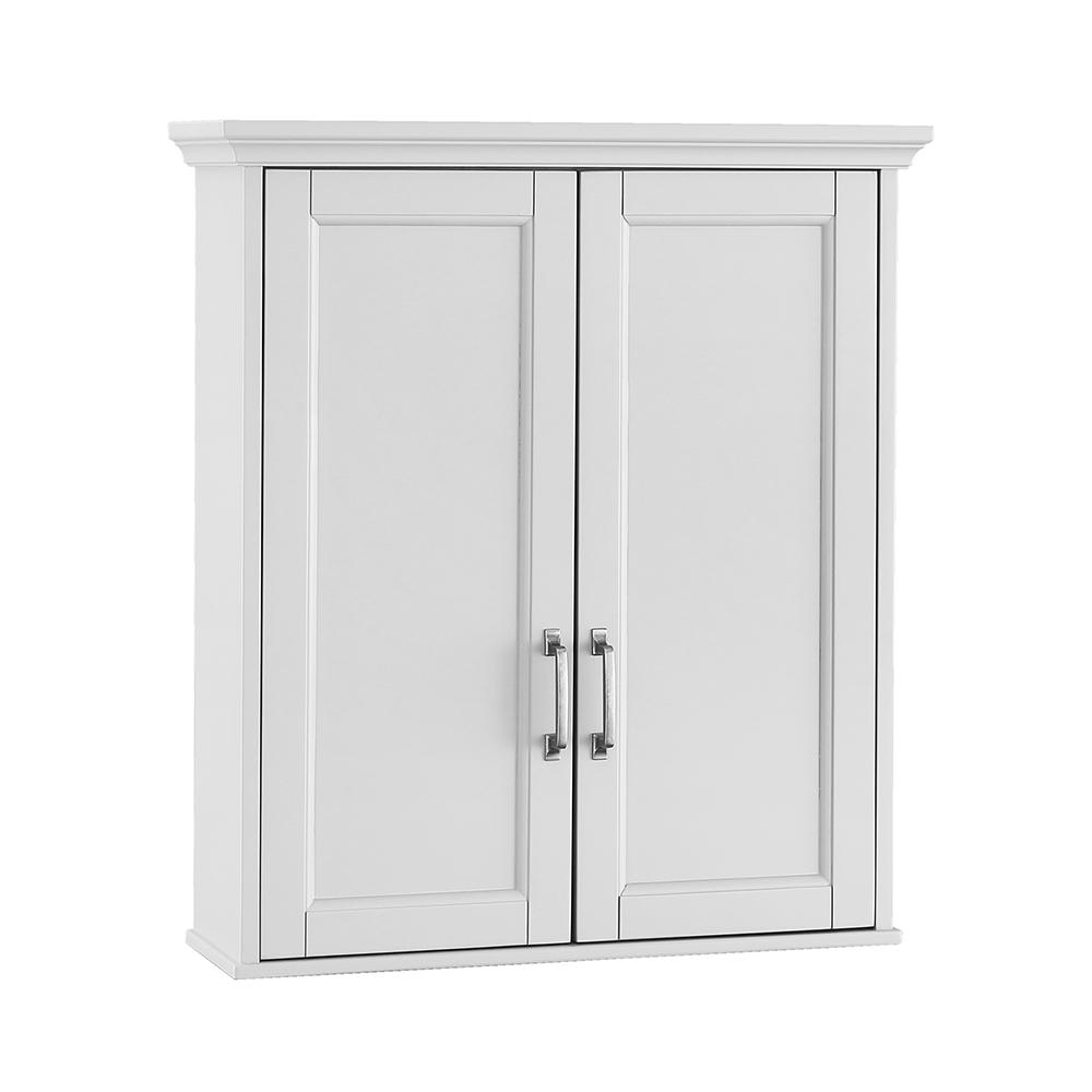 Home Decorators Collection Ashburn 23 12 In W X 27 In H X 8 In D Bathroom Storage Wall Cabinet In White with size 1000 X 1000