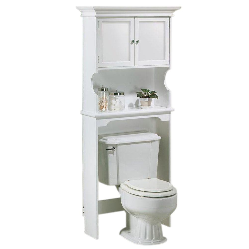 Home Decorators Collection Hampton Harbor 30 In W Space Saver In White intended for proportions 1000 X 1000