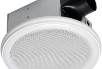 Home Netwerks Decorative White 110 Cfm Ceiling Mount Bluetooth Stereo Speakers Bathroom Exhaust Fan With Led Light with regard to size 1000 X 1000