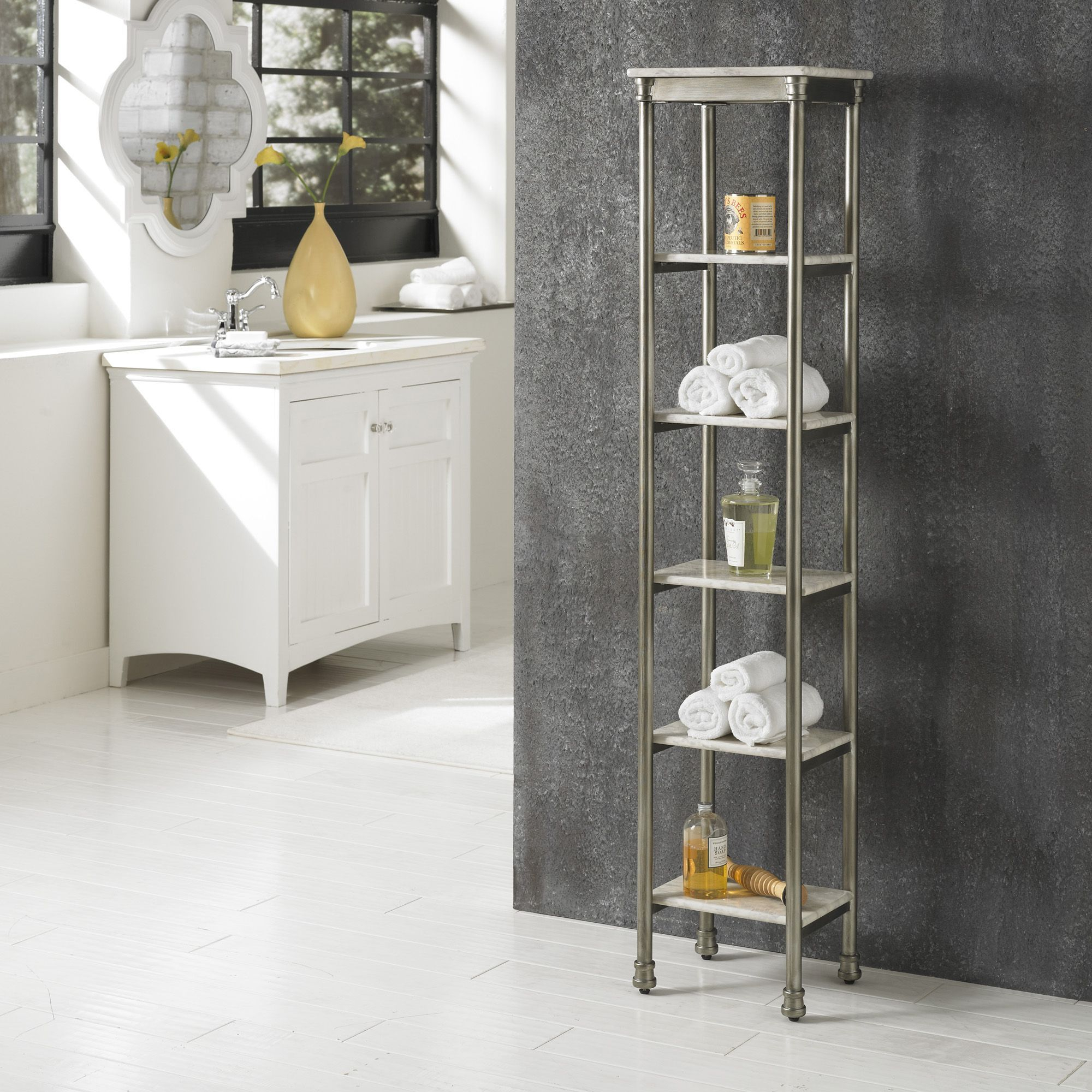 Home Styles The Orleans Steel 6 Tier Bathroom Storage intended for measurements 2000 X 2000