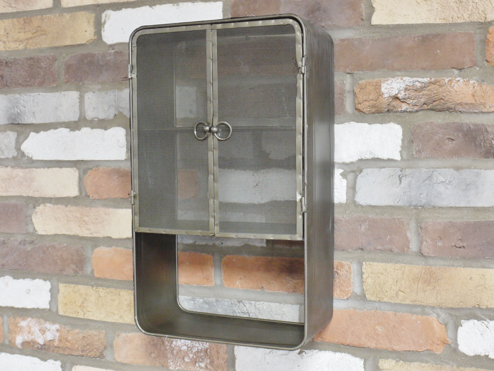 Industrial Grey Metal Wall Storage Bathroom Cabinet Unit in measurements 2048 X 1536