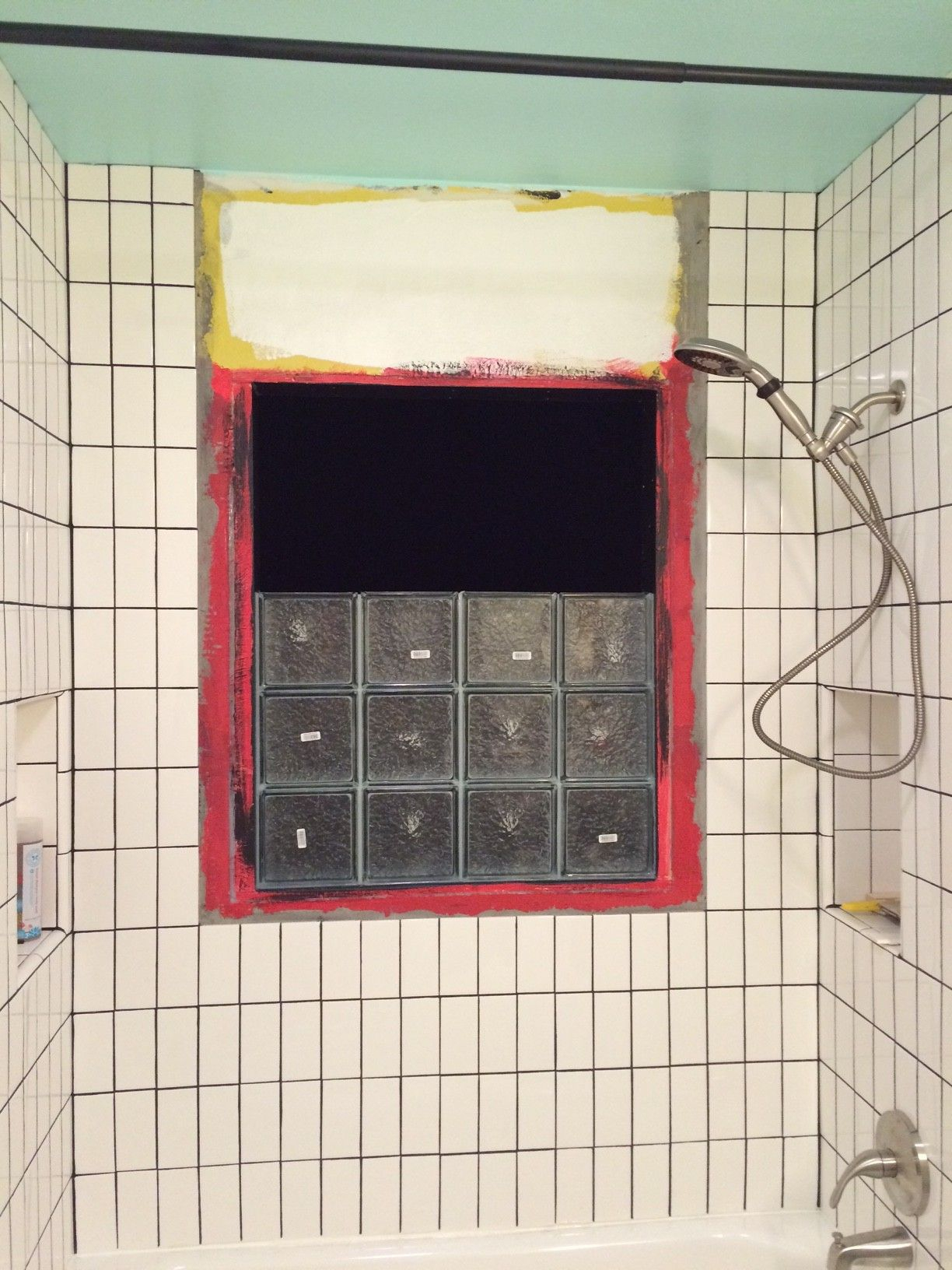 Installing Glass Block In A Shower House Ideas Bathroom throughout measurements 1224 X 1632
