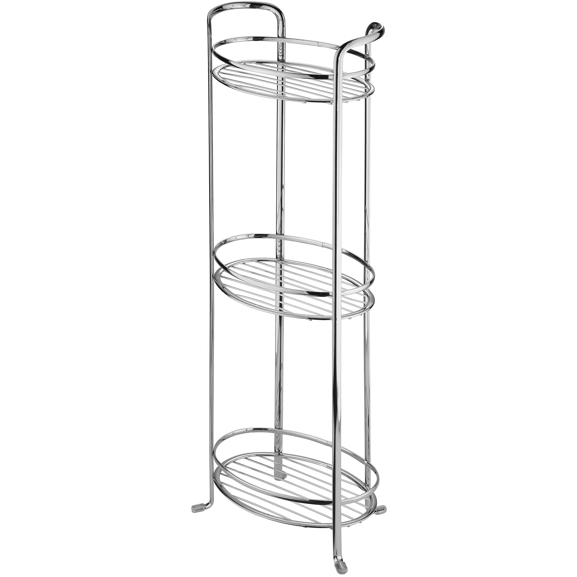 Interdesign Axis Free Standing Bathroom Storage Shelves For Towels Soap Candles Tissues Lotion Accessories 3 Tier Chrome regarding dimensions 2000 X 2000