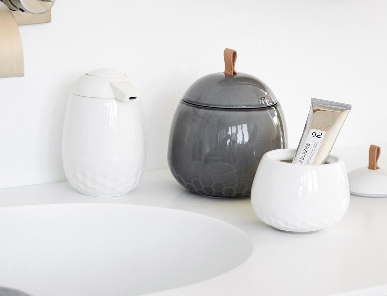 Kahler Mellibi Porcelain Bathroom Storage Jar inside proportions 1300 X 993