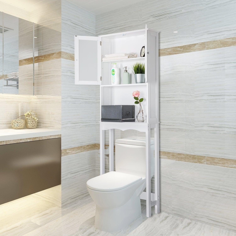 Kinbor Bathroom Organizer Over The Toilet Storage Shelf Bathroom Spacesaver Bathroom Cabinet Shelf pertaining to size 1500 X 1500