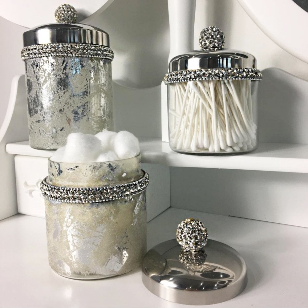 Lemonade Crystal Bathroom Storage Jars pertaining to dimensions 1000 X 1000