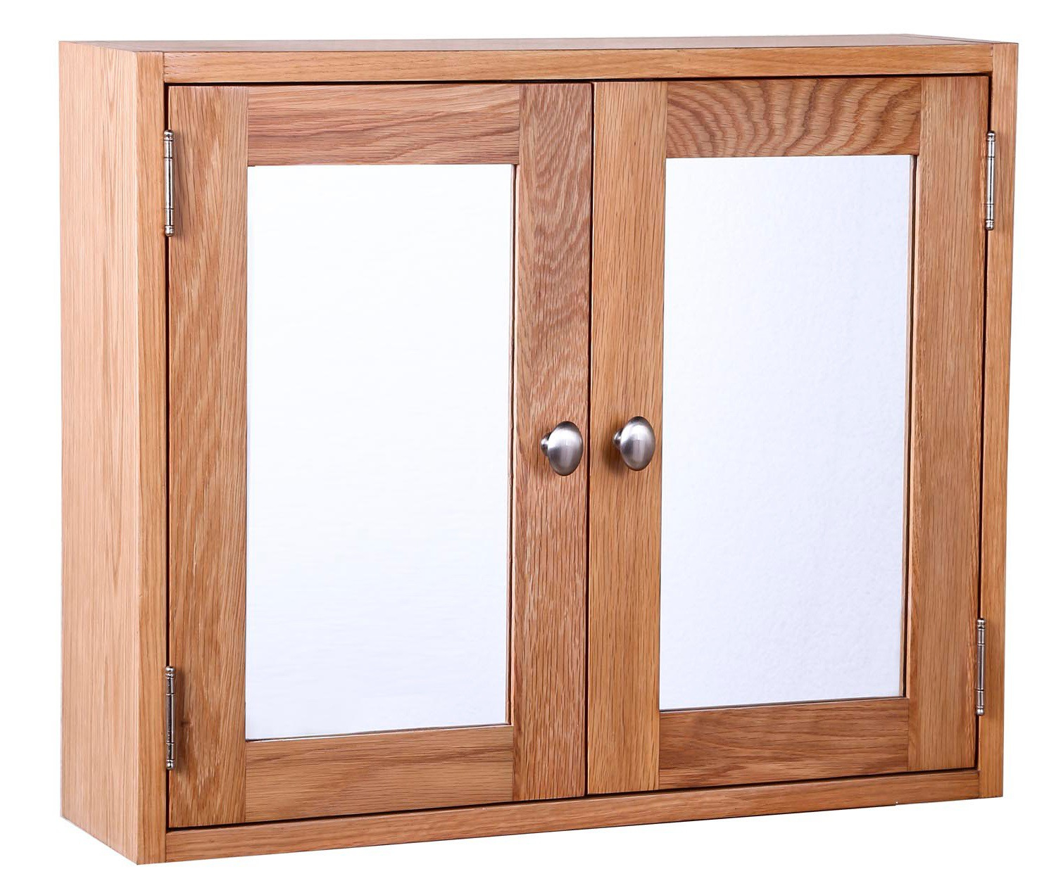 Light Oak Bathroom Storage Cabinet With Mirrors Hallowood pertaining to measurements 1500 X 1272