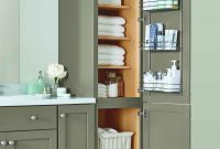 Lovely Tall Bathroom Linen Storage Cabinets Home Executive regarding proportions 2993 X 5200