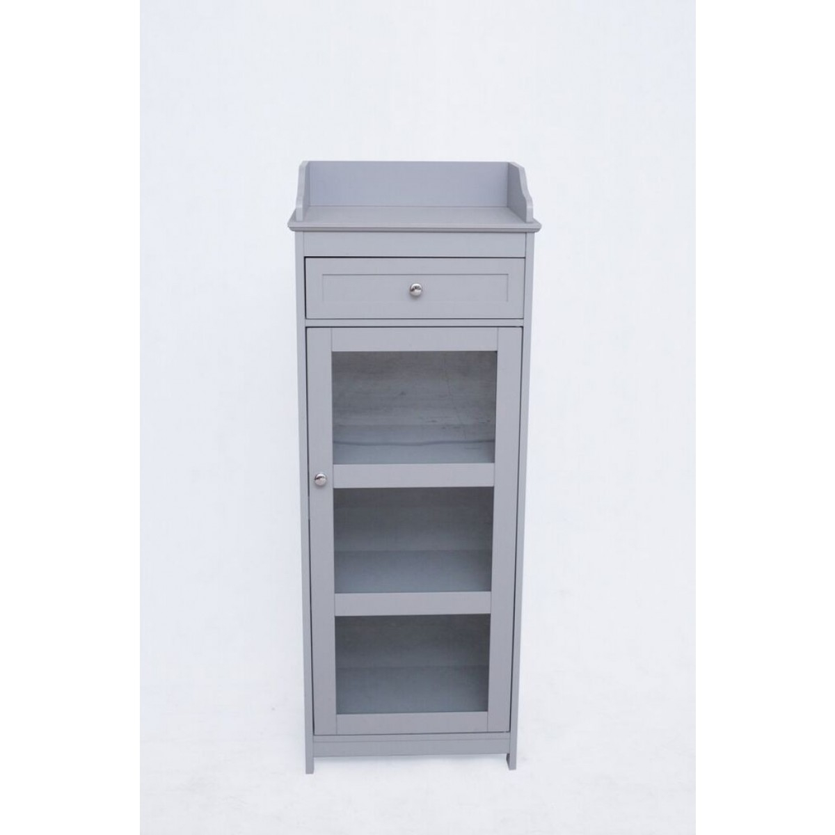 Lpd Alaska Glass Front Bathroom Storage Cabinet Grey Or White in measurements 1200 X 1200