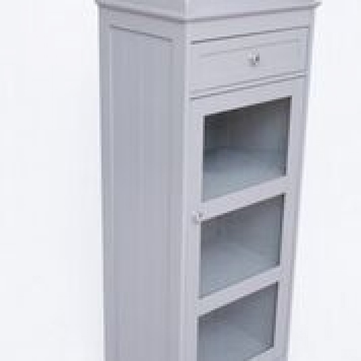 Lpd Alaska Glass Front Bathroom Storage Cabinet Grey Or White pertaining to measurements 1200 X 1200