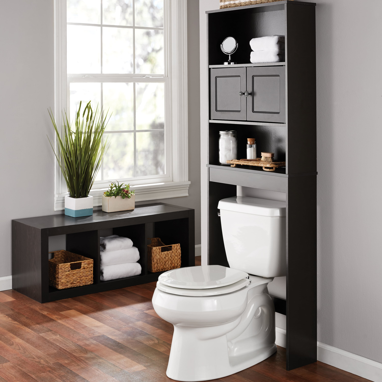 Mainstays Bathroom Storage Over The Toilet Space Saver Espresso inside measurements 3000 X 3000