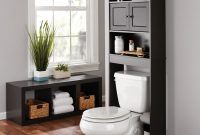 Mainstays Bathroom Storage Over The Toilet Space Saver Espresso within sizing 3000 X 3000