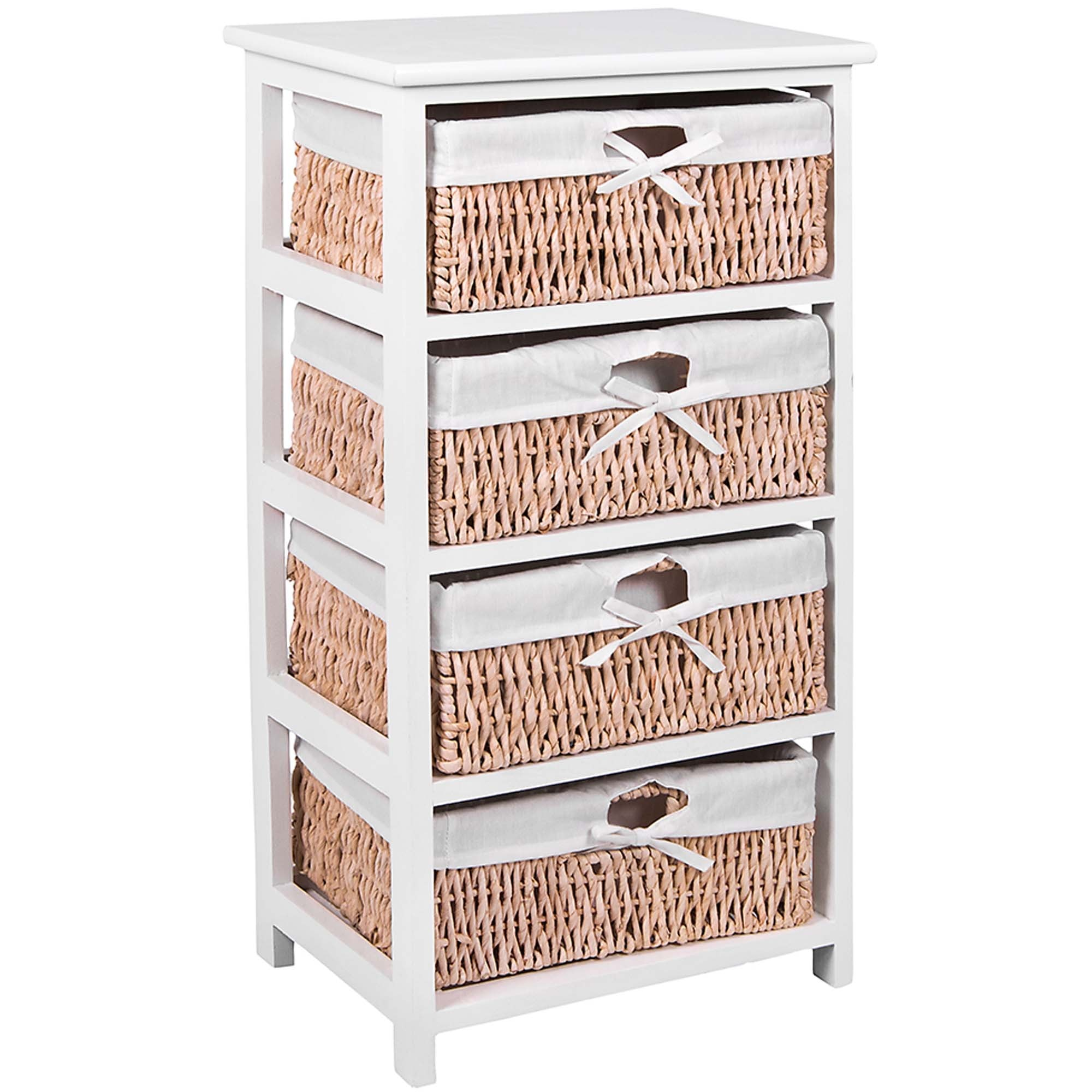 Maize White 4 Drawer Bathroom Storage Unit for measurements 2000 X 2000