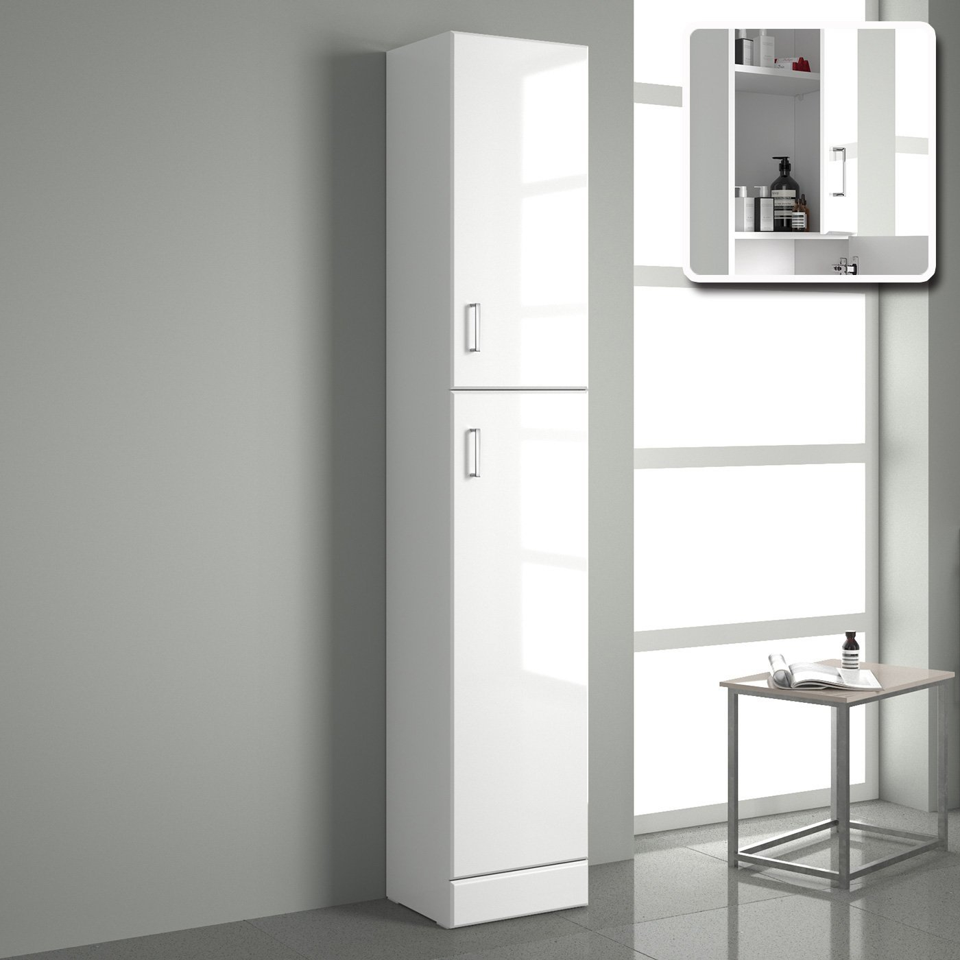 Marvelous Tall Bathroom Cabinet Lidl White Cupboard And pertaining to proportions 1400 X 1400