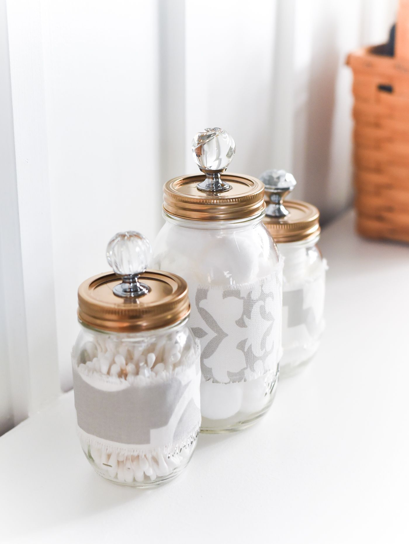 Mason Jar Cozies Bathroom Storage It All Started With regarding measurements 1400 X 1859