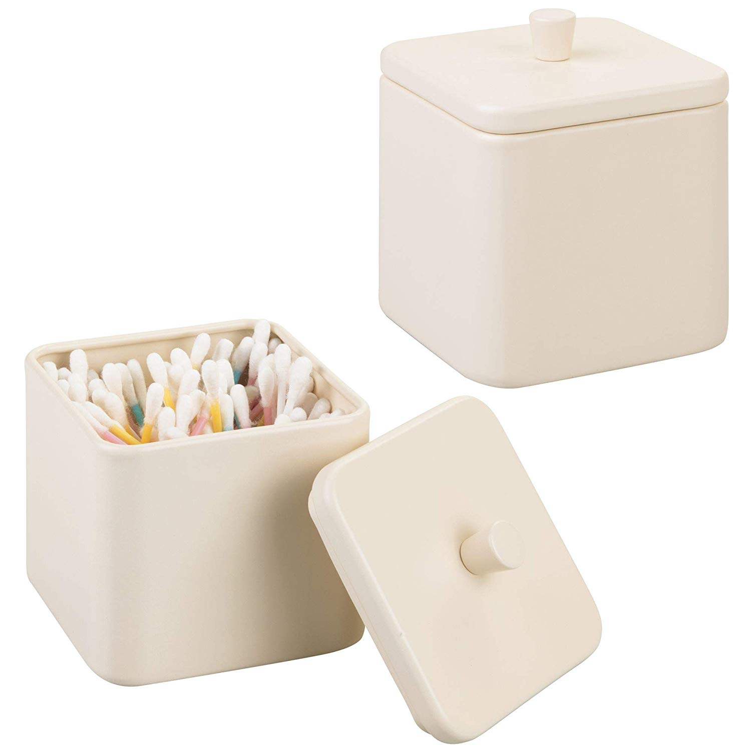 Mdesign Bathroom Vanity Countertop Storage Organizer Canister Jars within proportions 1500 X 1500