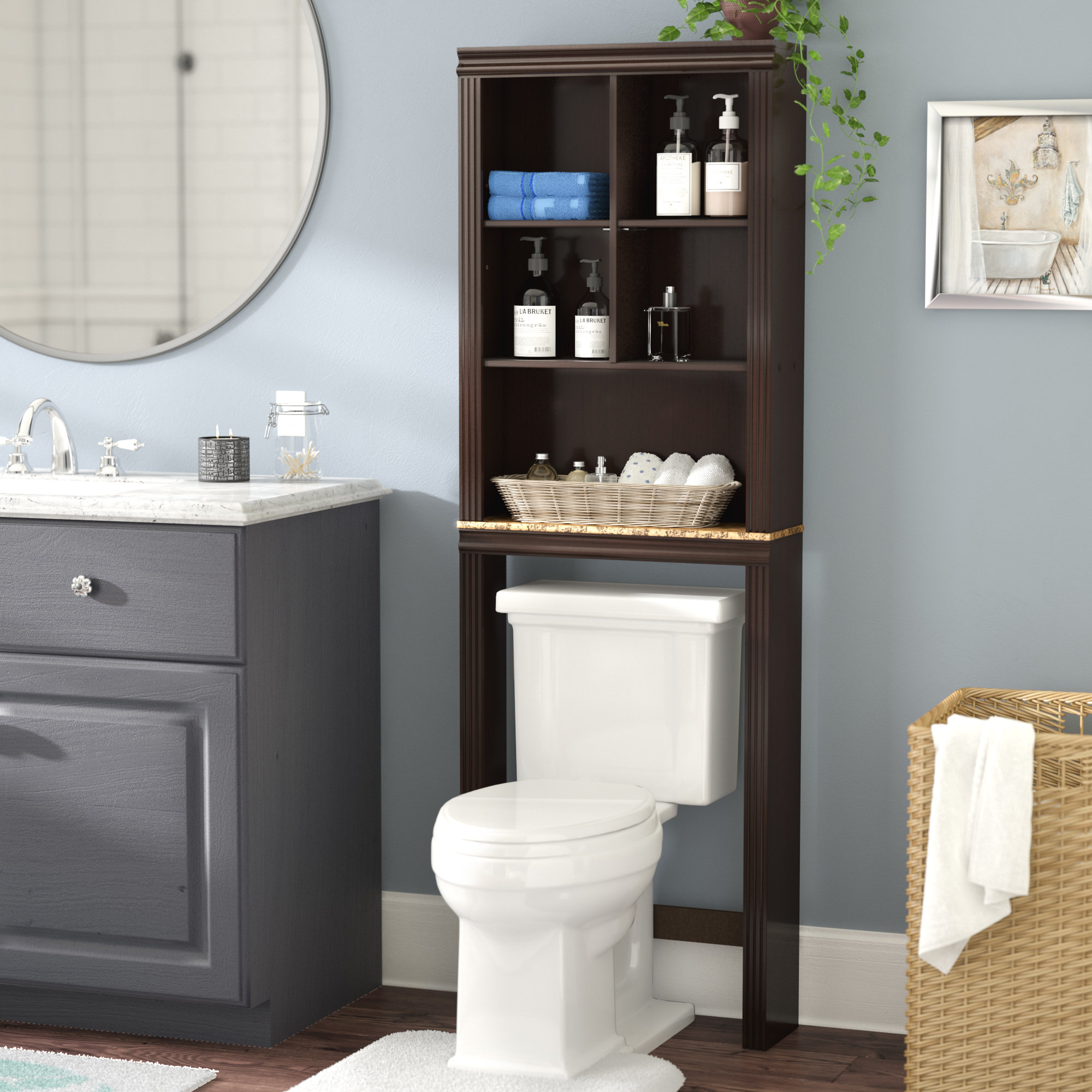 Milledgeville 233 W X 6858 H Over The Toilet Storage for proportions 2000 X 2000