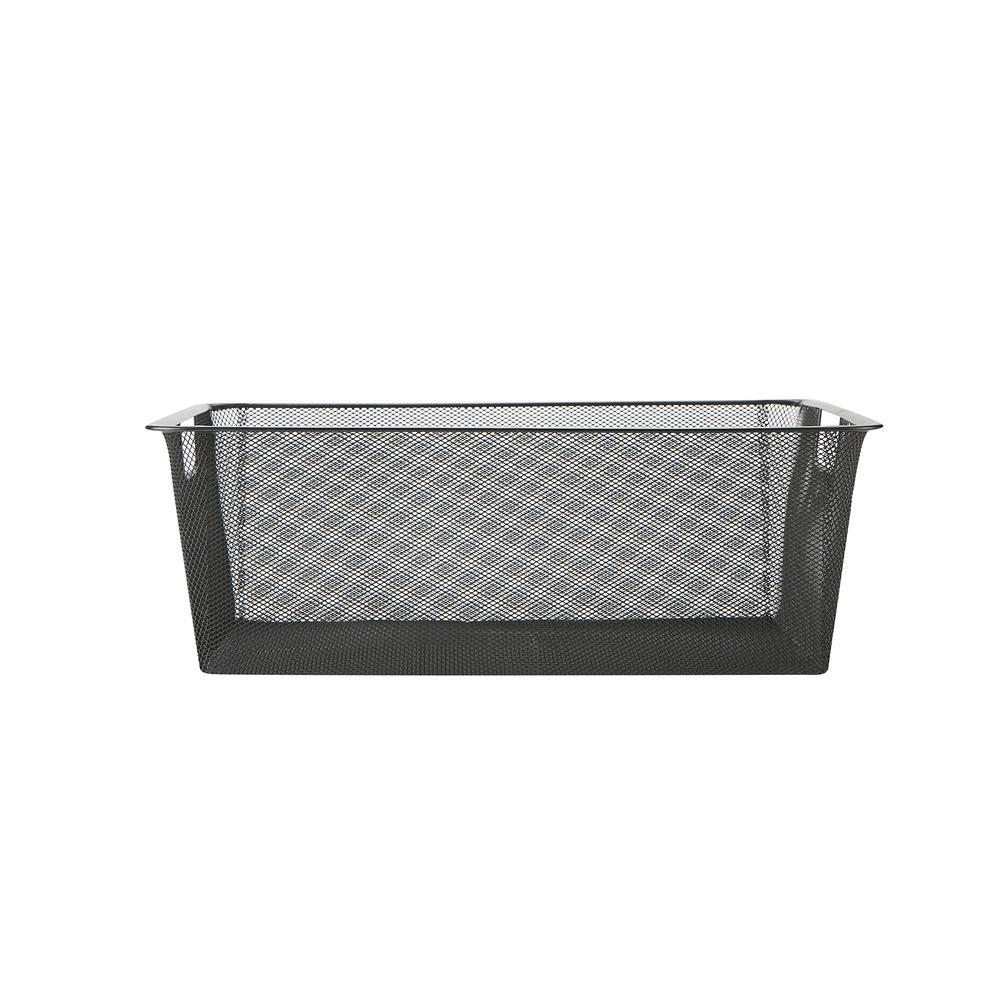 Mind Reader Mesh Storage Basket With Handle Storage Bin Storage Bins Organizer Bin Bathroom Bedroom Office Black with regard to size 1000 X 1000