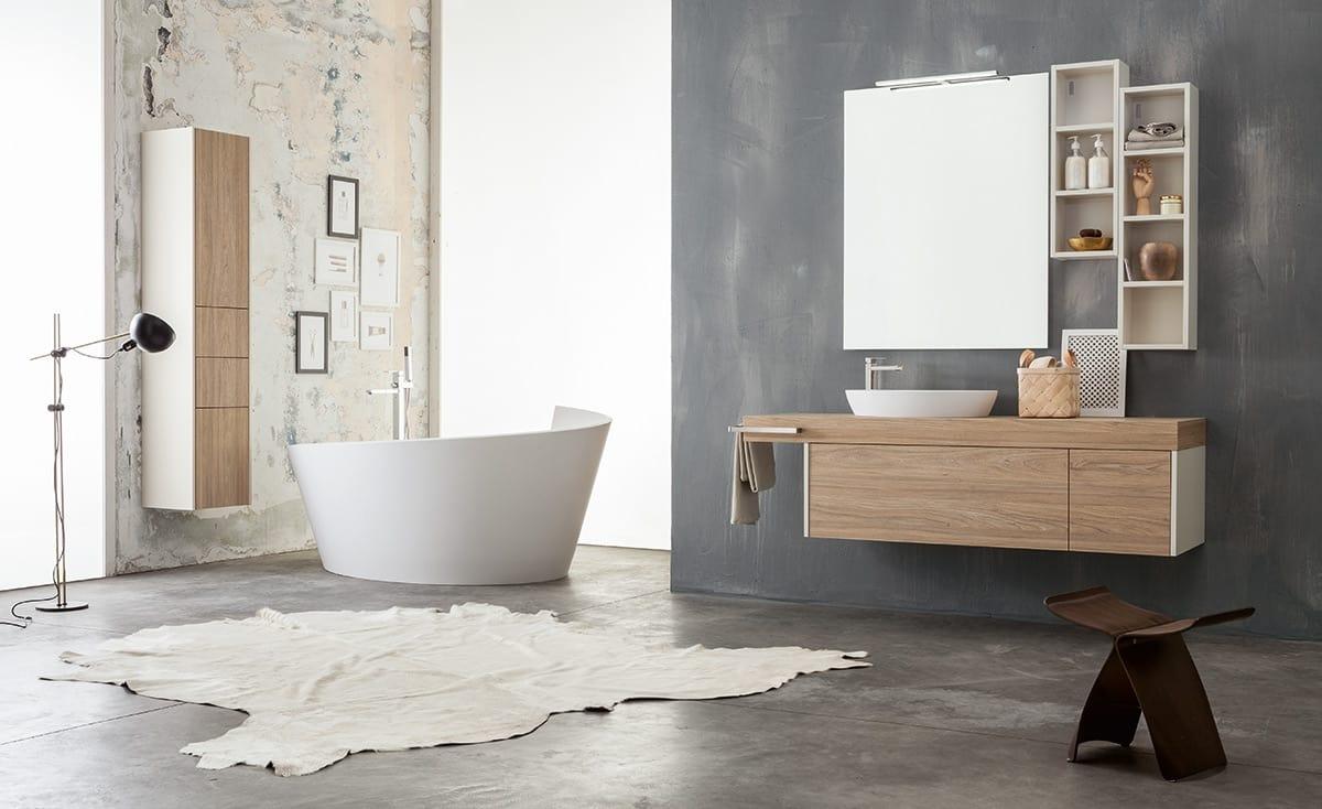 Modular Bathroom Cabinet With Storage Columns Idfdesign with regard to measurements 1200 X 734