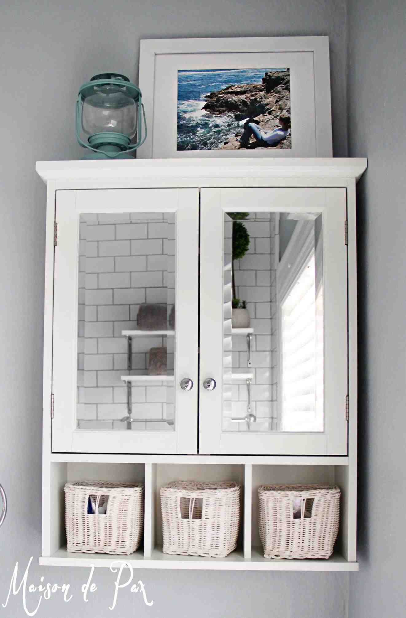 New Post White Bathroom Wall Cabinet With Towel Bar with sizing 1322 X 2010