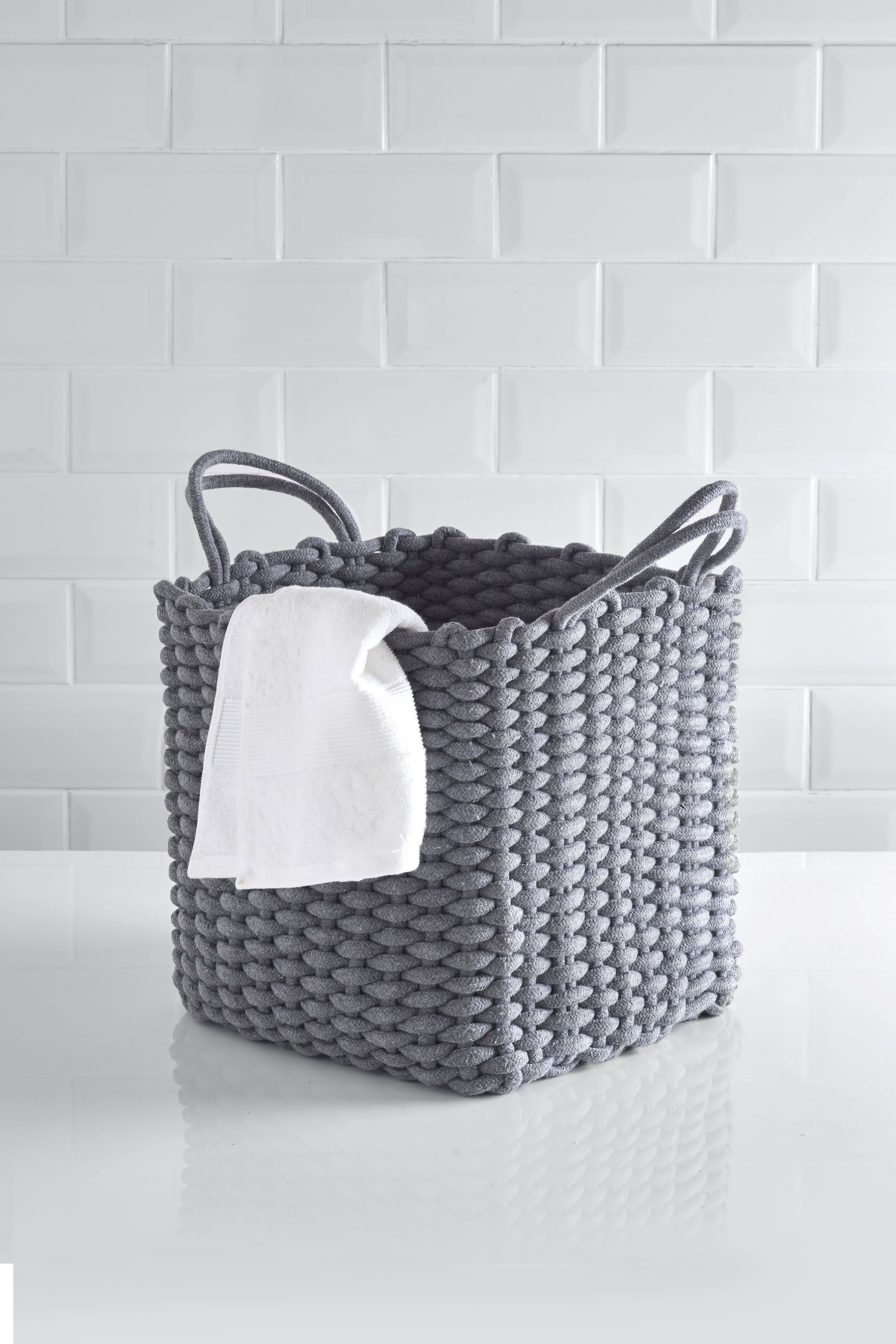Next Rope Storage Basket Grey Diy And Crafts In 2019 within measurements 1800 X 2700