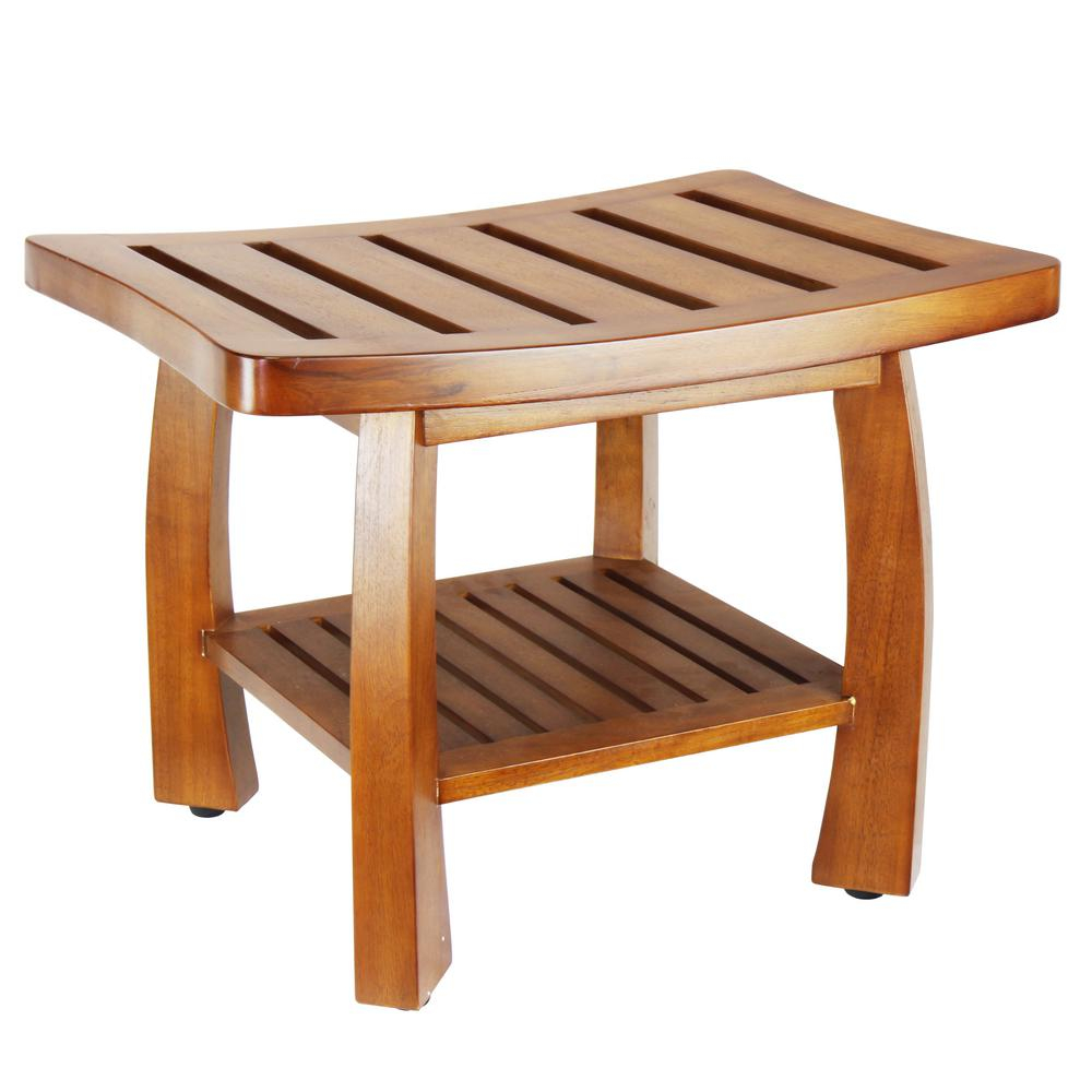 Oceanstar 17 In X 2375 In Solid Wood Spa Bench With intended for dimensions 1000 X 1000