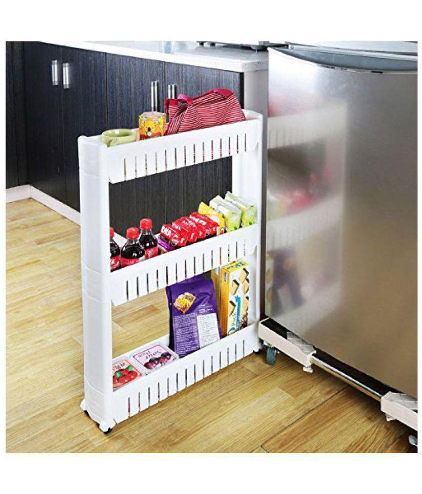Okayji Multipurpose Bathroom Kitchen Storage Rack Shelf 3 Tiers White with regard to measurements 850 X 995