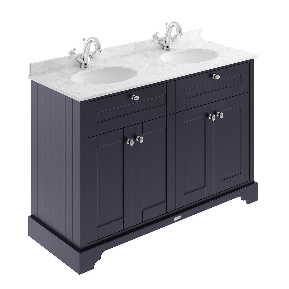 Old London Twilight Blue Vanity Unit With Marble Top 1200mm within size 1200 X 1200