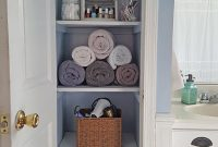 Organized Linen Closet Diyfirst Home First Apartment with size 747 X 1328