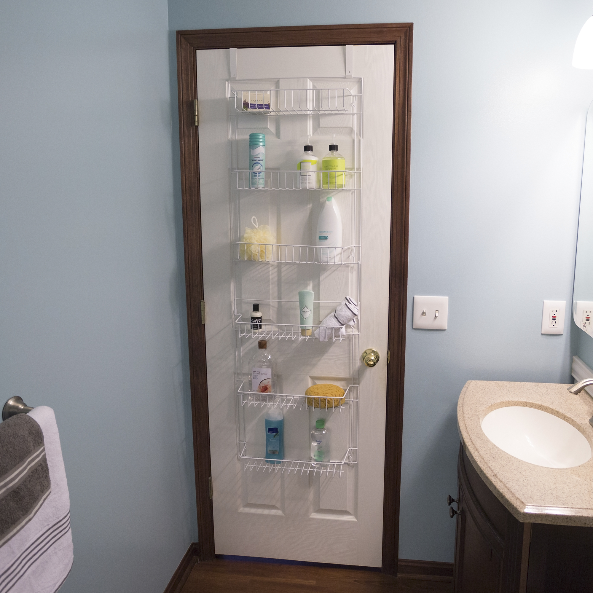Over The Door Bathroom Organizer With 6 Shelves Lavish inside proportions 2000 X 2000