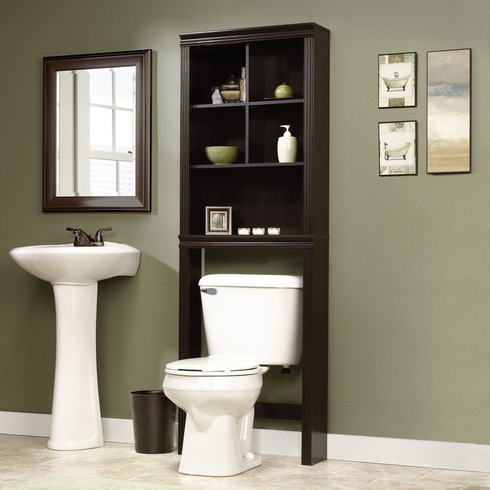 Over The Toilet Etagere Espresso Brown Sauder Products pertaining to dimensions 1000 X 1000