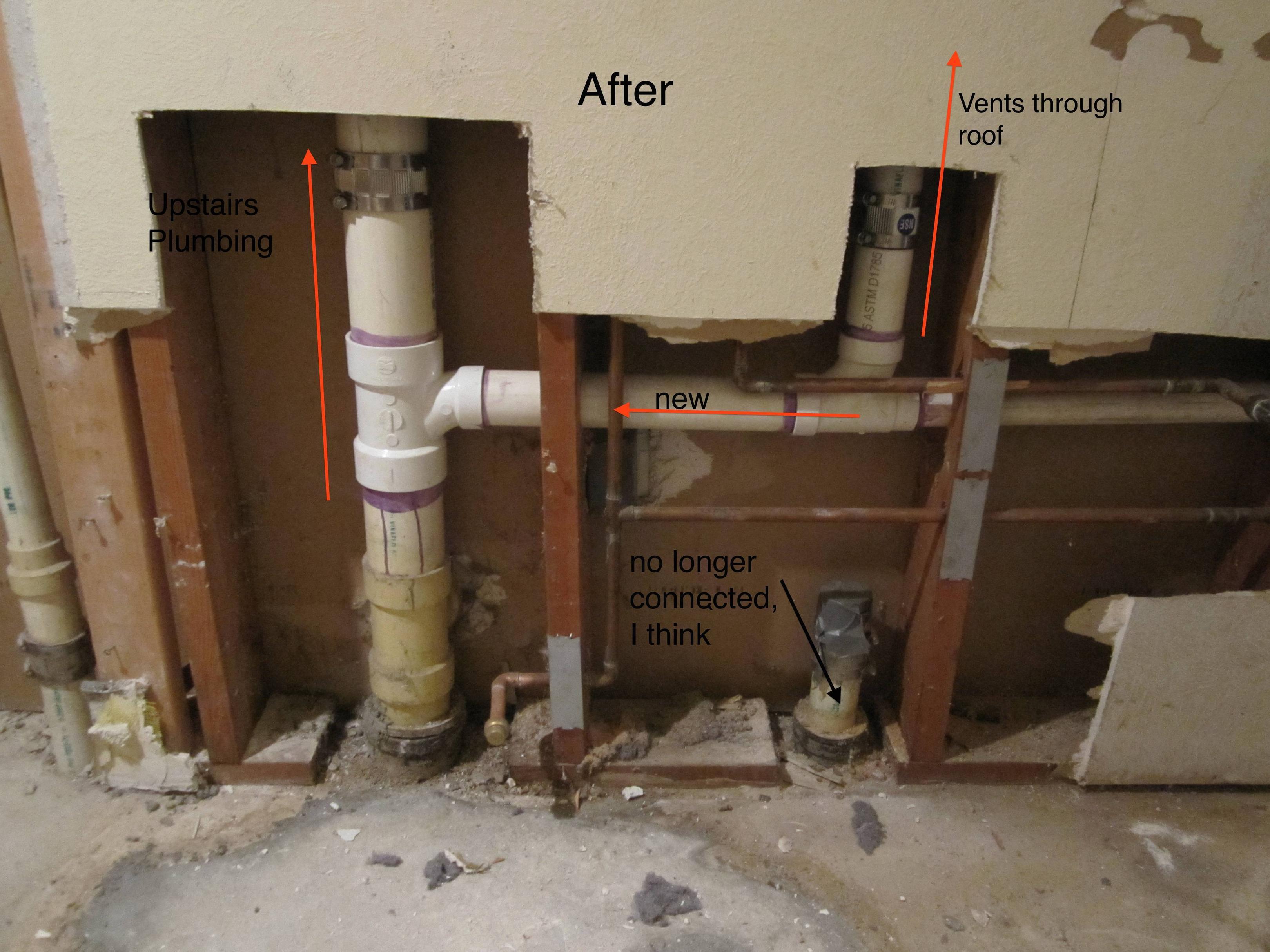 Plumbing Alteration Has Created Vacuum In Upstairs Toilets regarding size 3240 X 2430
