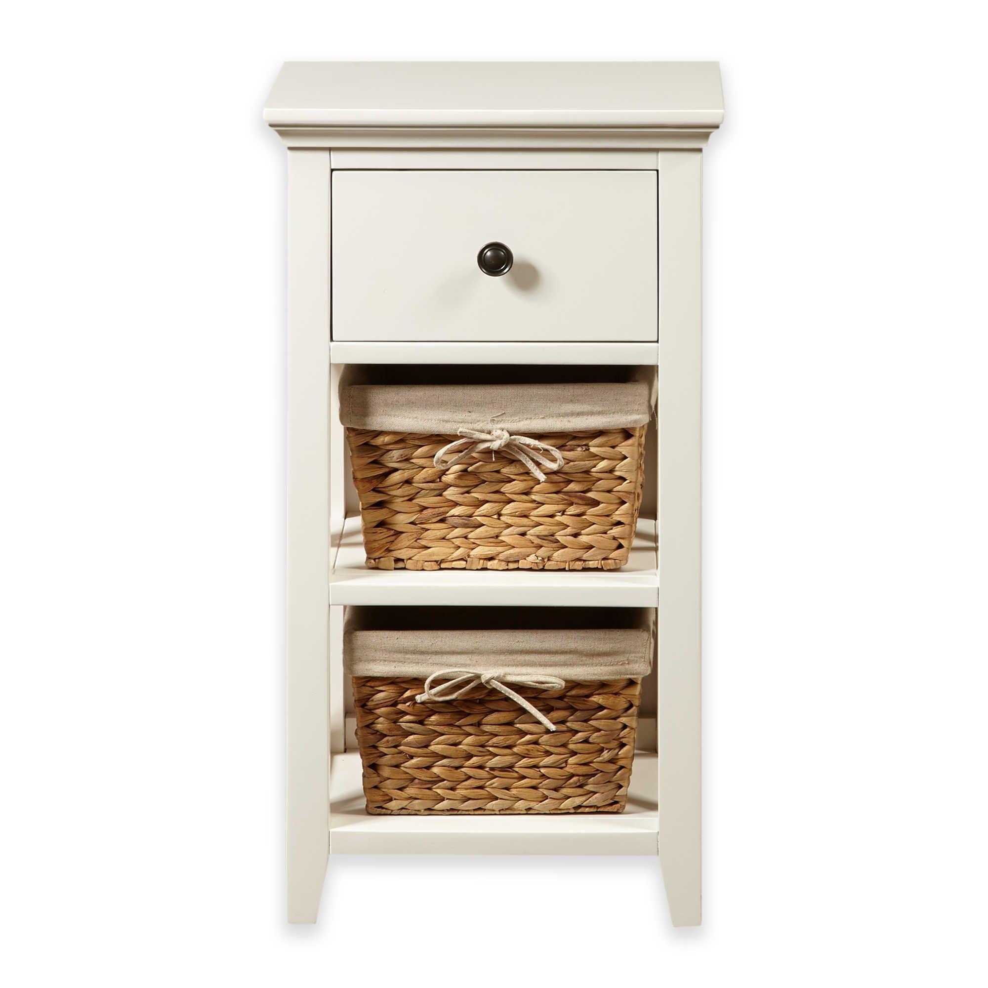 Pulaski Basket Bathroom Storage Cabinet In Linen White intended for proportions 2000 X 2000