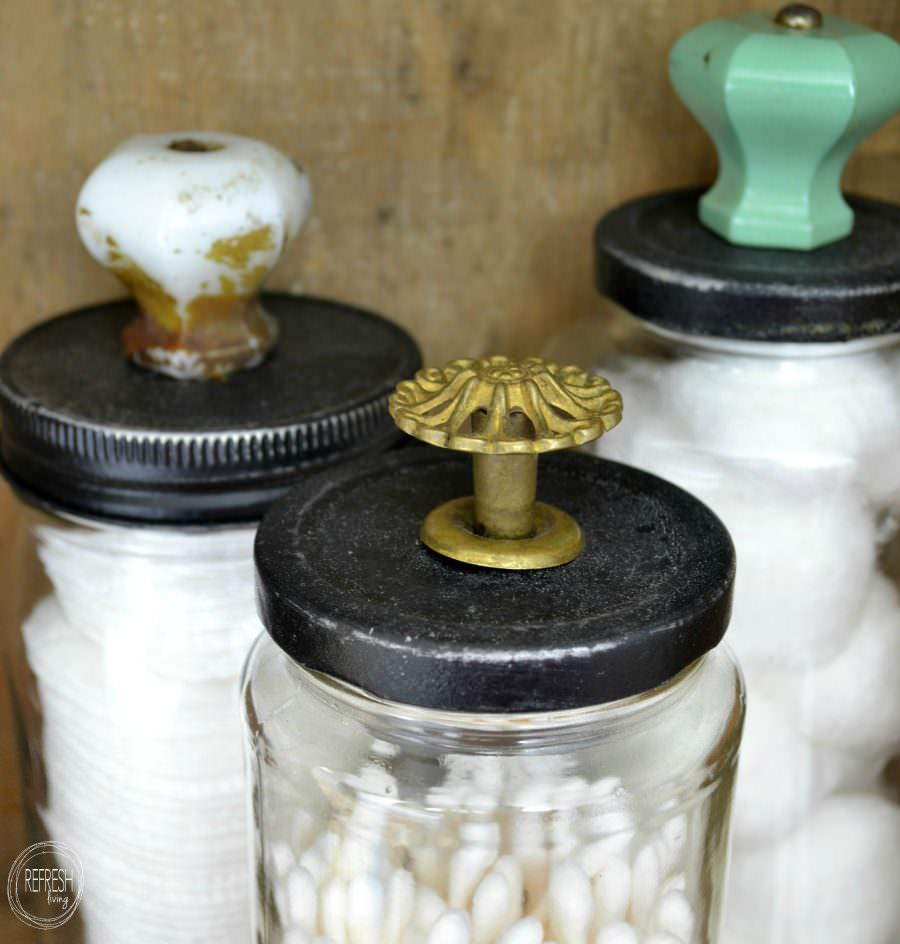 Reuse Glass Jars For Bathroom Storage Refresh Living within dimensions 900 X 944