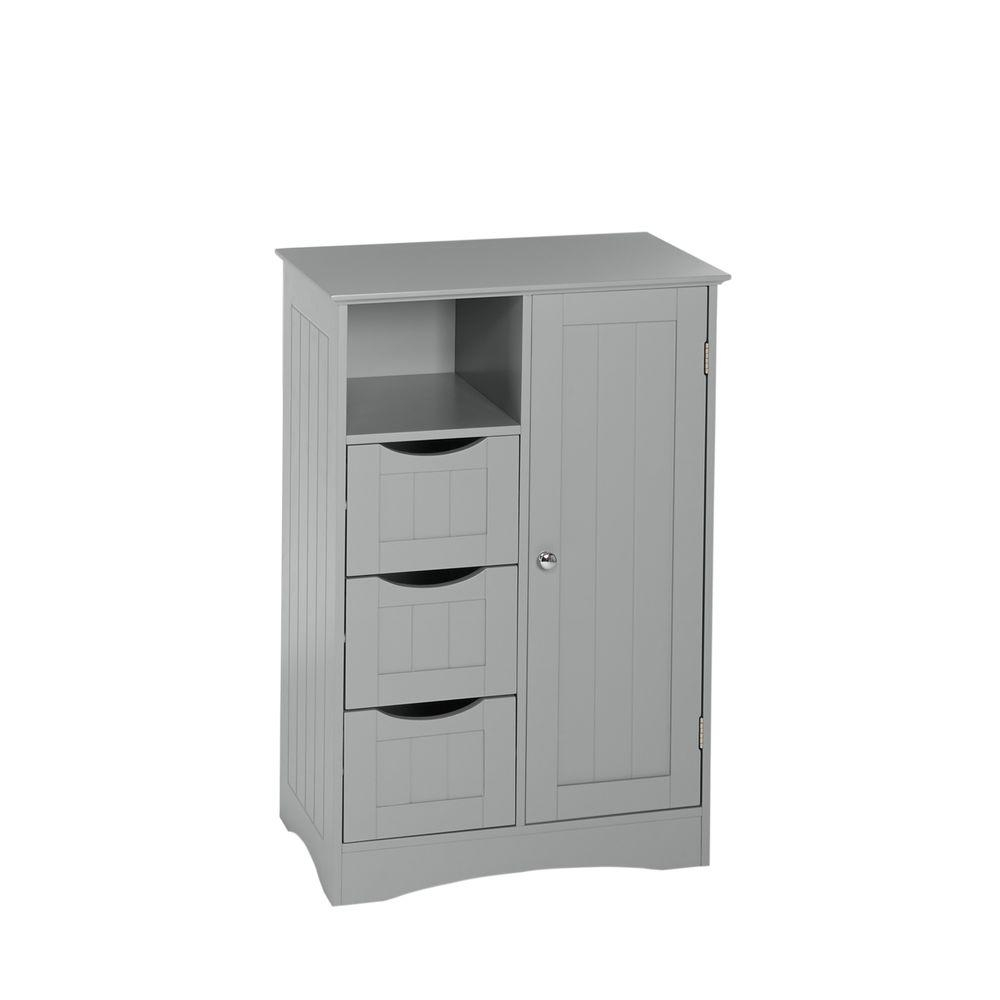 Riverridge Home Ashland 22 In W X 32 In H Bathroom Linen Storage Floor Cabinet In Gray pertaining to dimensions 1000 X 1000