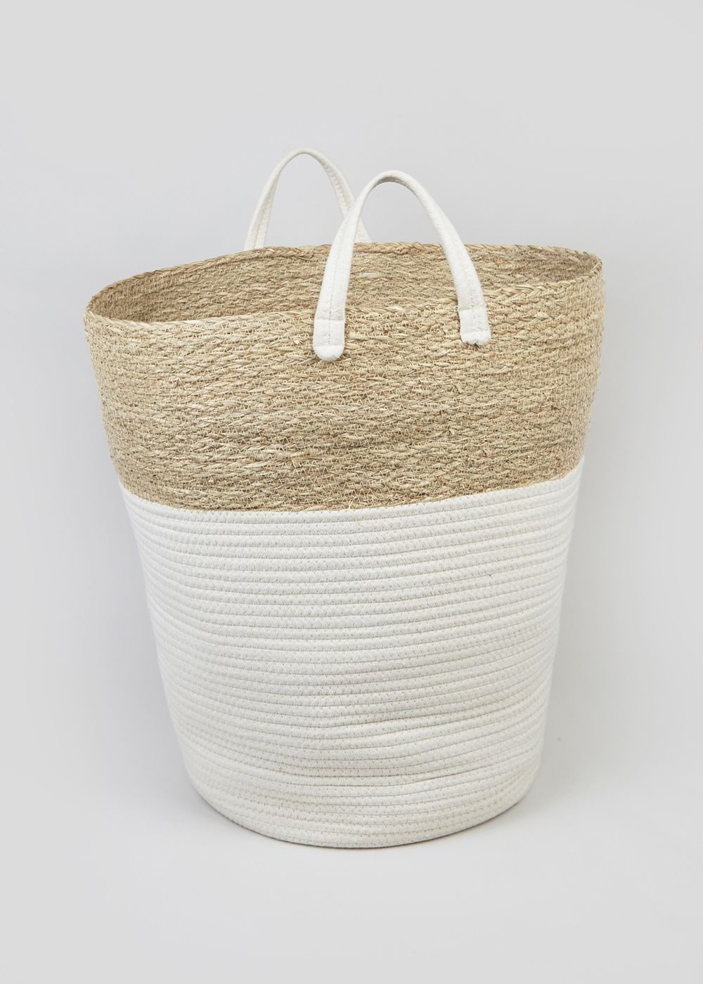 Rope Laundry Basket 50cm X 30cm Natural Home Wishlist intended for size 1000 X 1400