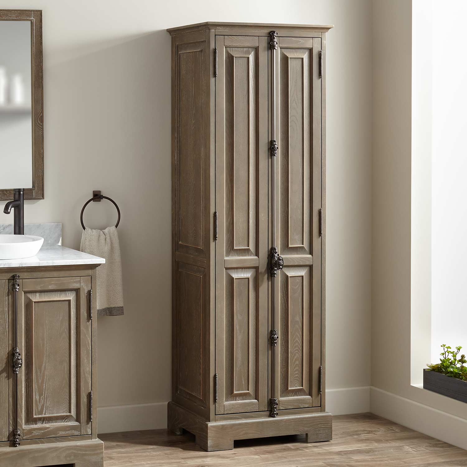 Rustic Bathroom Storage Cabinet Renacci For Home From with regard to dimensions 1500 X 1500