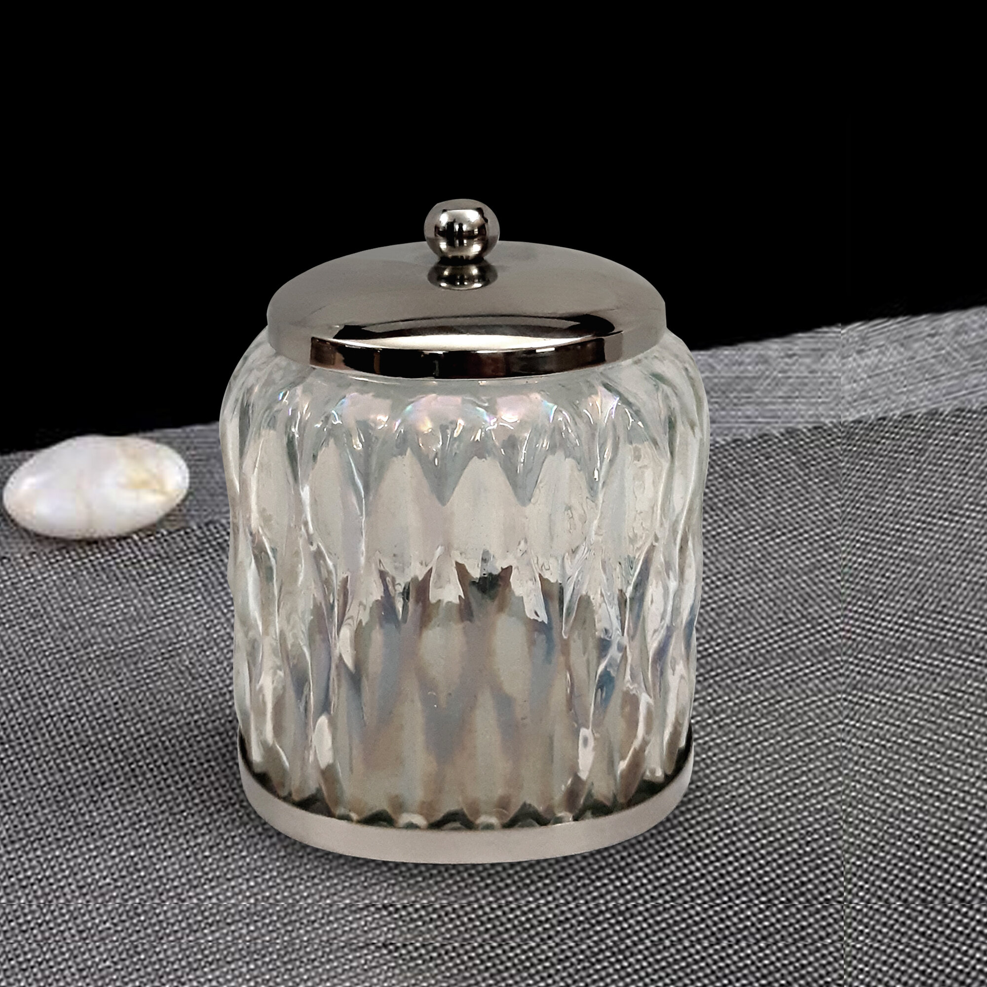 Savoie Rainbow Cotton Swab Bathroom Vanity Glass Storage Jar inside dimensions 2000 X 2000