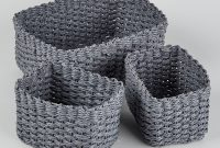 Set Of 3 Paper Rope Storage Baskets Grey House In 2019 inside sizing 1000 X 1400