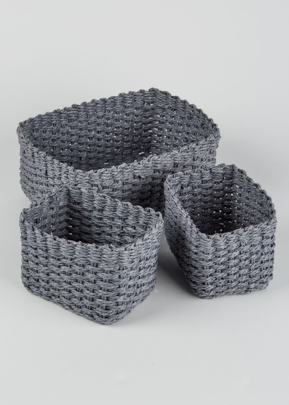 Set Of 3 Paper Rope Storage Baskets Grey House In 2019 regarding proportions 1000 X 1400